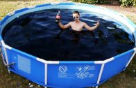Taking A Bath In A Giant 1,500 Gallon Coca-Cola Swimming Pool