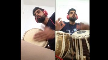A Guy Playing Tabla-Dholak Cover For 'One Dance'