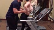 Awesome Couple Treadmill Dancing