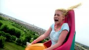 Girl's Hilarious Roller Coaster Reaction