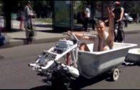 Bathtub Car! Only In Russia!
