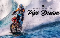 Stuntbiker Rides A Wave On His Dirtbike