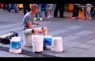 Extremely Talented Street Drummer